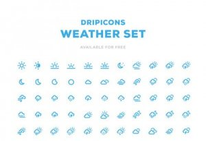 Dripicons – Weather icon set