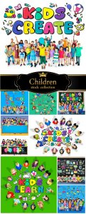 Children, ideas and creativity - stock photos