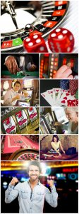 Casinos and people, gambling - Stock photo