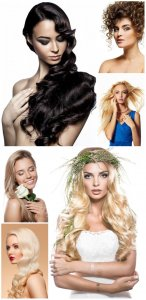 Beautiful women with different hairstyles - Stock photo