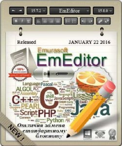 Emurasoft EmEditor Pro 15.7.2 Final / 15.8.0 beta 4 + Portable + Plugins & ThemePack (2016/ML/Rus/x86/x64)